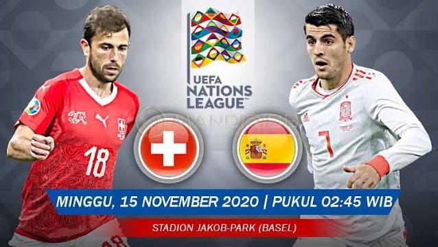 Prediksi Swiss Vs Spanyol, Minggu 15 November 2020 Pukul 02.45 WIB @ Mola TV