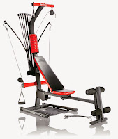 Bowflex PR1000 Home Gym, with Power Rods resistance 5 to 210 lbs, horizontal bench press, lat pull downs, multi-use hand grips, ankle cuffs, upholstered roller cushions, rowing machine rail for cardio rows