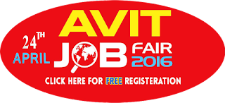 AVIT Mega Job Fair 2016 for 2016,2015 & 2014 Passed out on 24th April 2016 at Chennai