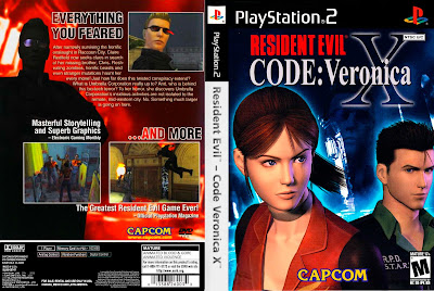 Jogo Resident Evil Code Veronica X PS2 DVD Capa