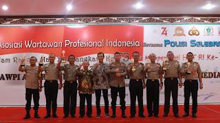 Kapolres Lumajang Raih Penghargaan AWPI AWARD Sebagai Kapolres Sahabat Media