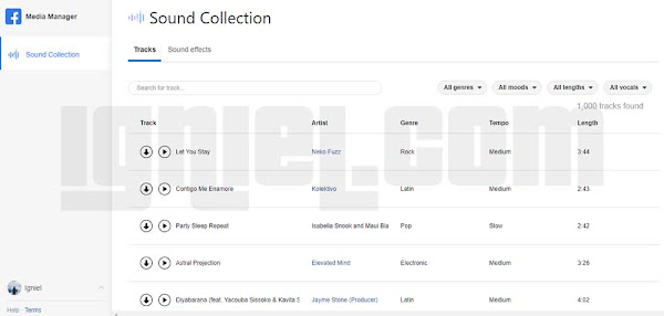 Facebook Sound Collection Musik Gratis Untuk Instagram