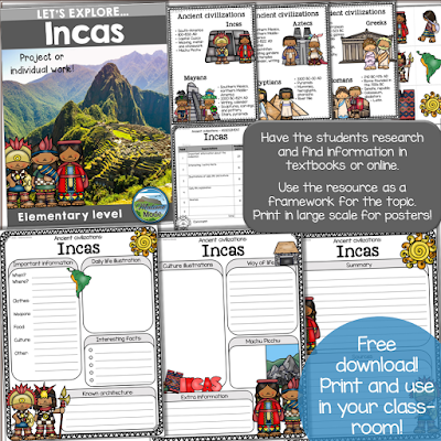 "Let's Explore! Research based learning is fantastic, and helps information ""stick"". Use these research units for FREE in your classroom. Download from the blog post! :-)"