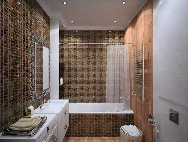 perfect bathroom in a small apartment