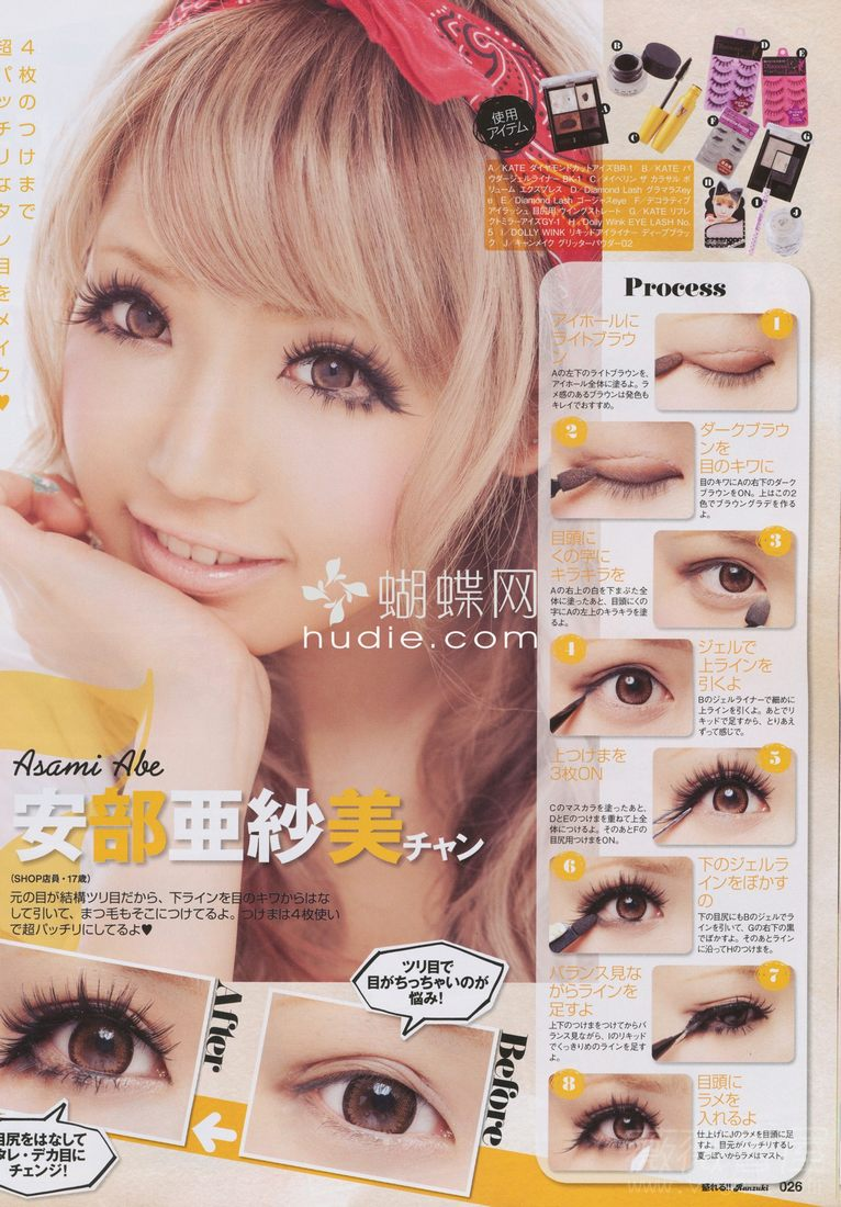 Easy gyaru makeup tutorial featured on hellolizziebee