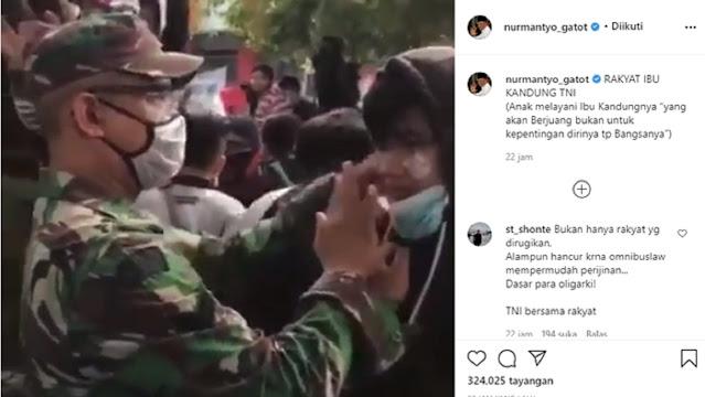 Demo Omnibus Law Bentrok dengan Polisi, Jenderal Gatot Posting TNI Bantu Demonstran