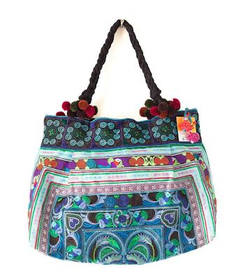 Hmong Textile Bohemian Mom Bags {boho hippie diaper bags under $40} Bohemian mom, hippie mom