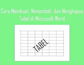 membuat tabel di ms word