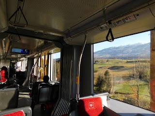 Blick aus der Iglerbahn auf die Lanserfelder in der Nähe der Station Mühlsee