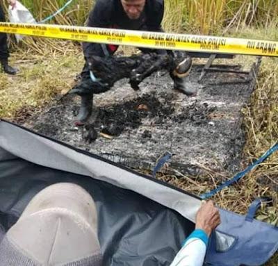 Geger, Warga Simpang 2 Rambutan Temukan Mayat Dibakar
