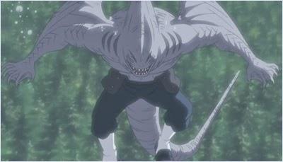 คิซาเมะรวมร่างกับดาบหนังฉลาม