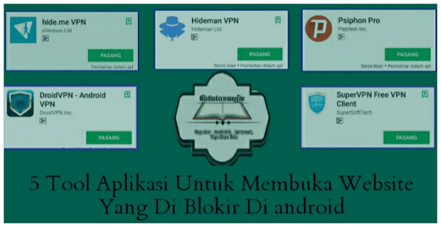 Aplikasi untuk mebuka website yang di blokir