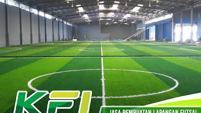 BUTUH Jasa Pembuatan Lapangan Futsal, Penjual Rumput & Lantai Futsal   KFI Sport Pelakunya