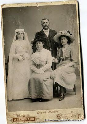Photo de mariage noir et blanc, Gendraud Clermont-Fd