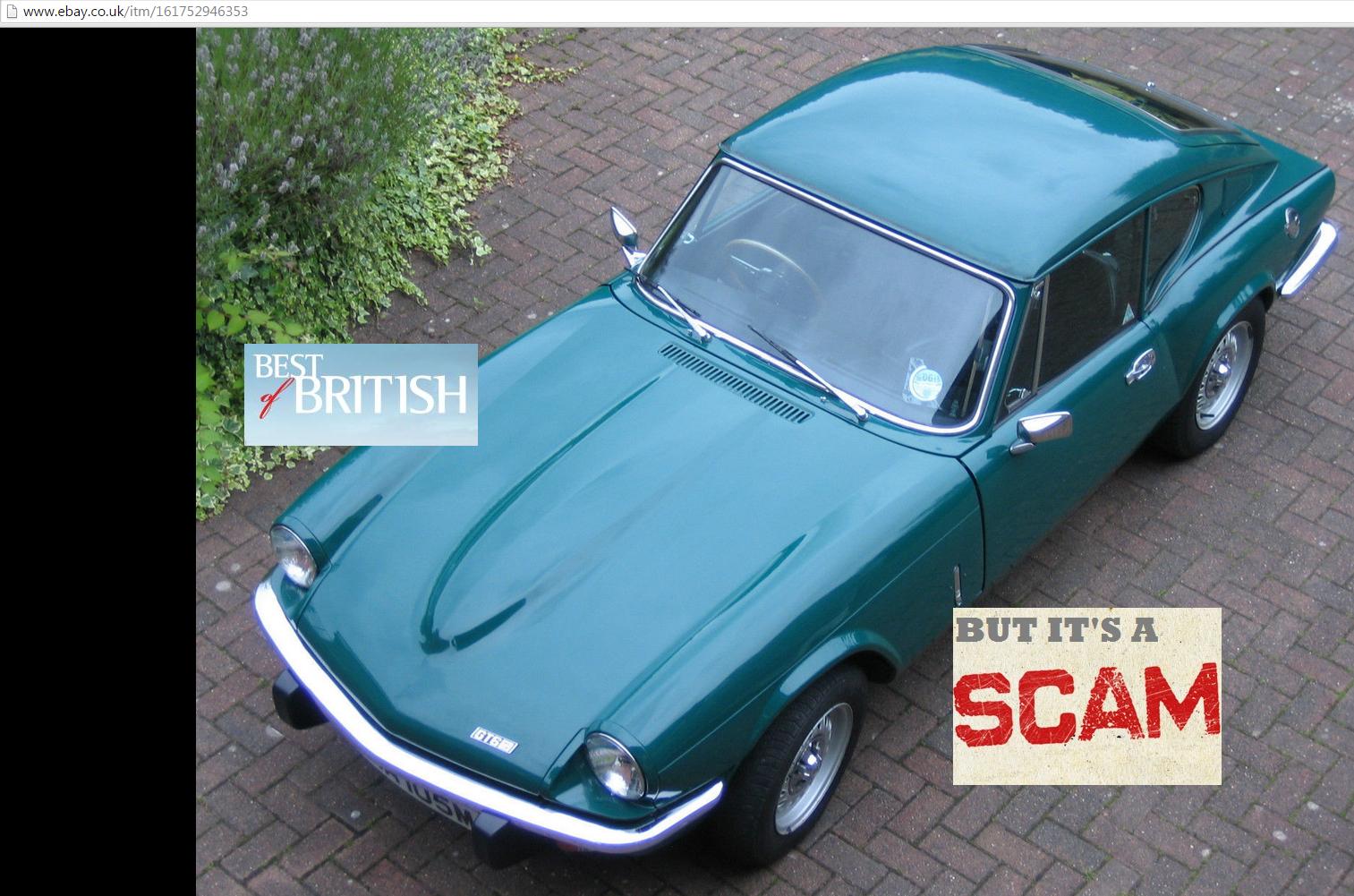 Jack Buster Jack Ebay Scam 1973 Triumph Gt6 Mk3 2 0 Straight Six Uma105m Classic Car Fraud Uma 105m 04 Jul 15