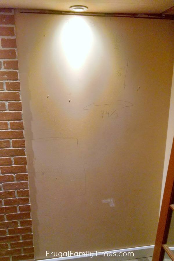 install faux bricks on wall