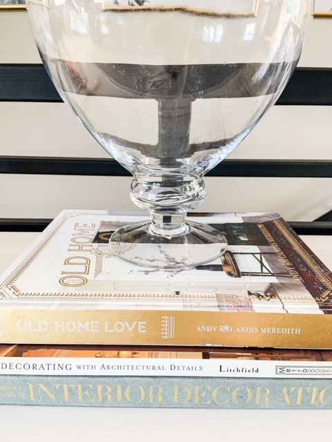 home decor books with vase as decor