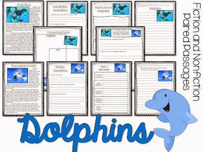Dolphins paired passages for the summer- summer reading activities for june and july