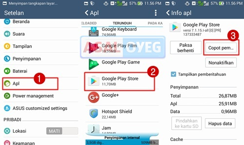 uninstall update aplikasi playstore