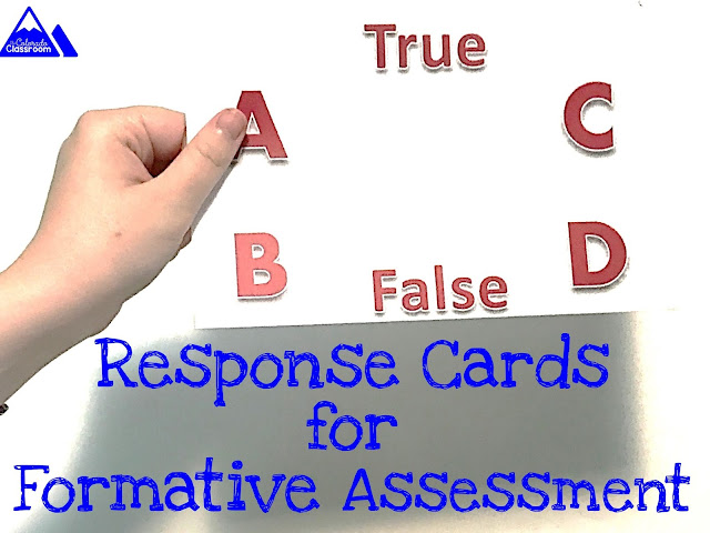 Formative Assessment Response Cards in the Classroom