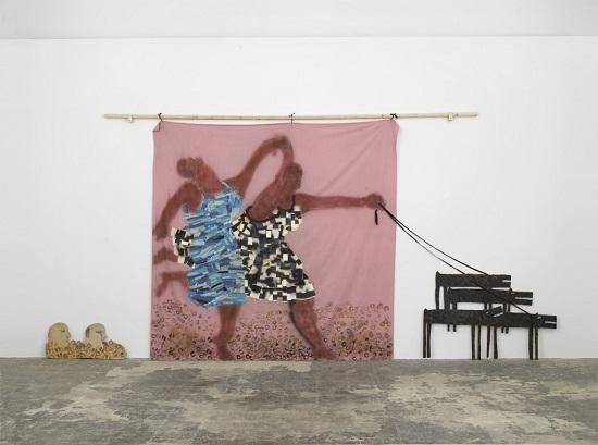 "por Lubaina Himid, ""Freedom and Change"", 1984."