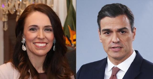 Jacinda Ardern y Pedro Sánchez