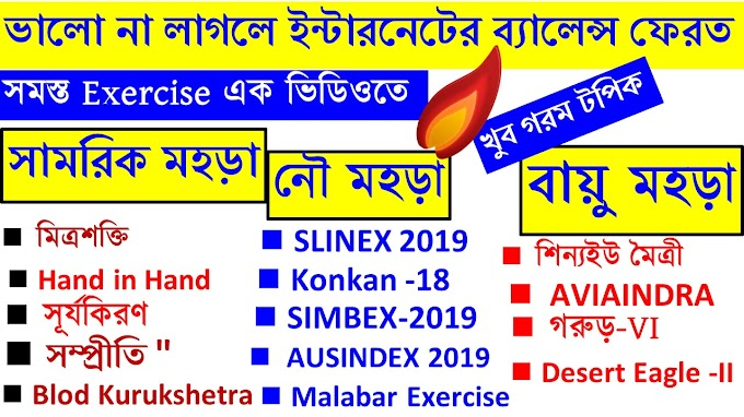 List of Joint Military Exercises in Bengali 2019 For All Competitive Exams