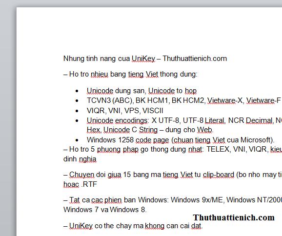 chuyển văn bản có dấu sang không dấu với Unikey