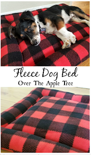 Fleece Dog Bed, Over The Apple Tree