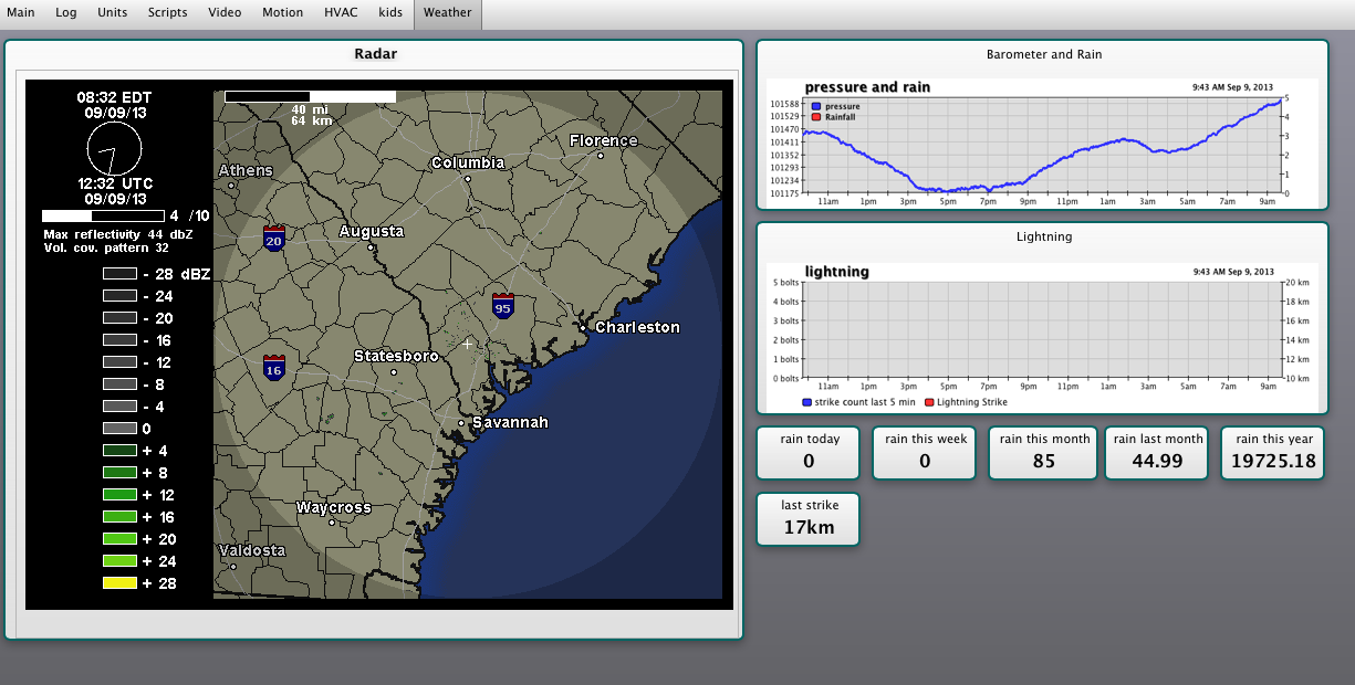 PlanetaryGear: adding animated weather radar to your XTension Web