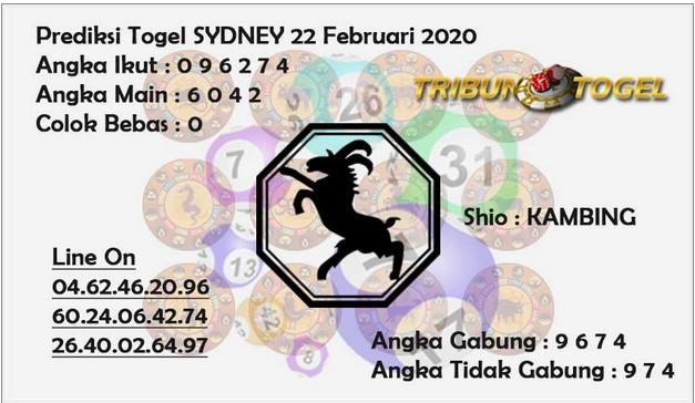 Prediksi Togel JP Sidney 22 Februari 2020 - Prediksi Tribun Togel