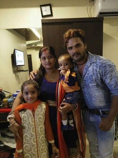 खेसारी लाल रियल वाइफ & फेमिली Khesari Lal Yadav Real Wife & Femily on Son Birthday Party.