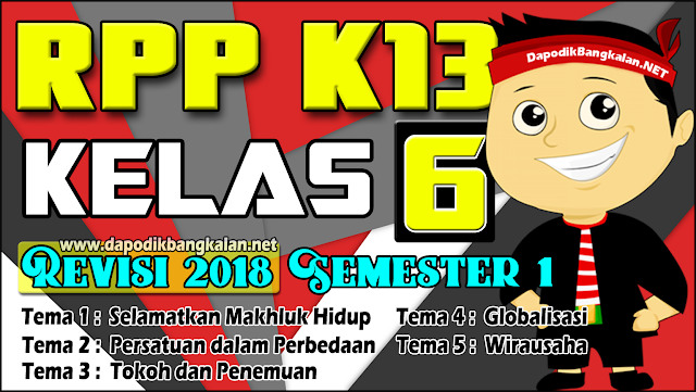RPP  Kelas 6 K13 Revisi 2018 Semester 1