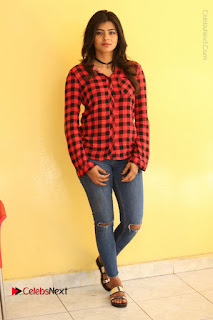 Actress Hebah Patel Stills in Blue Denim Jeans at Nanna Nenu Naa Boyfriends Movie Success Meet  0092.JPG