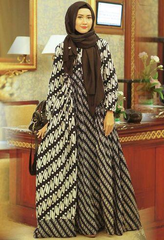 47 Model Gamis Batik Terbaru Yang Harus Kamu Miliki Boesana Com