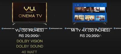 xiaomi mi tv 4x vs vu cinema tv, vu cinema tv vs xiaomi mi tv 4x,