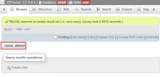 Node JS Dasar - Cara Membuat Tabel pada Database MySQL - berhasil