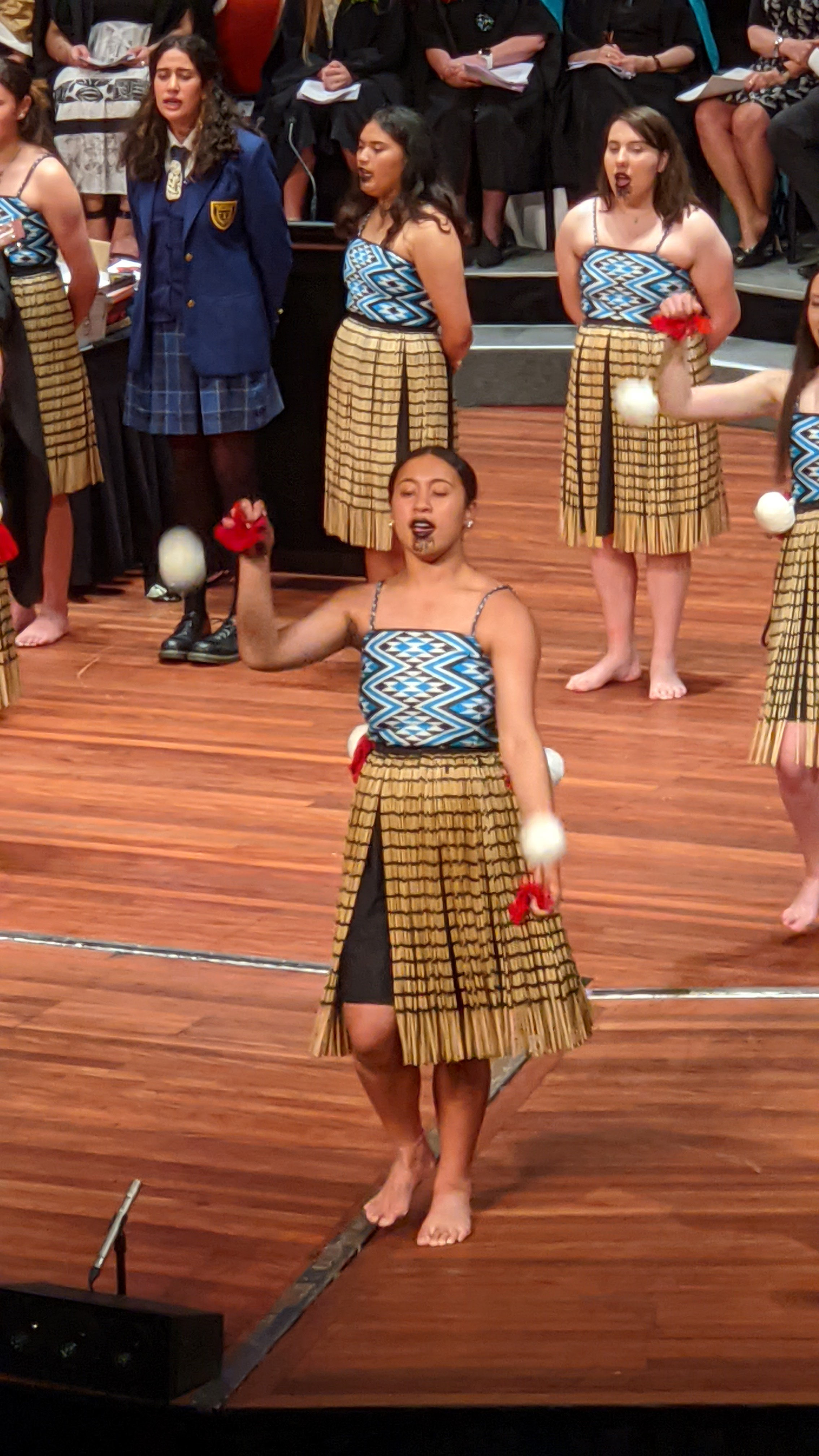 Wahine performing on stage