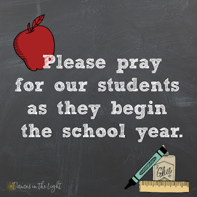 Please pray for our students as they begin the school year