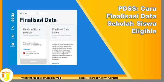 PDSS: Cara Finalisasi Data Sekolah Siswa Eligible