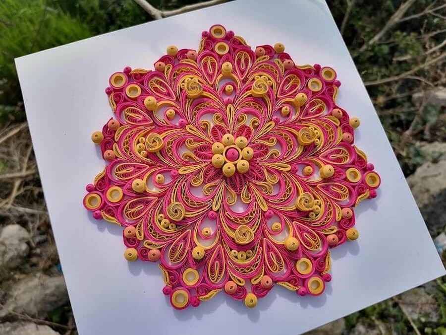 11-Red-and-Yellow-Mandala-Quilling-Branka-Miletić-www-designstack-co