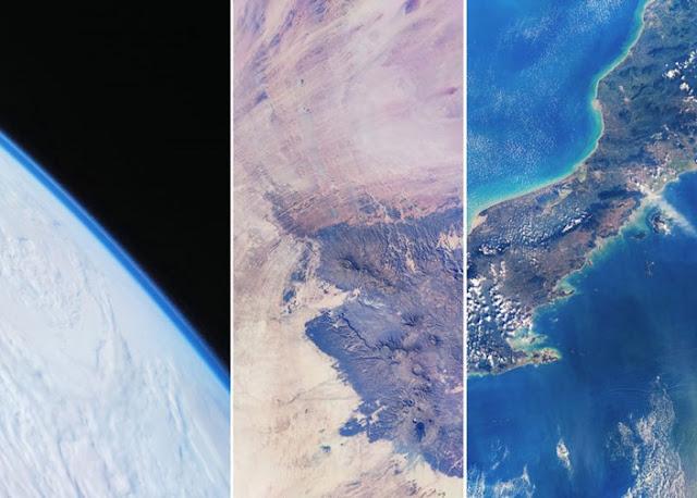 Fotos do nosso planeta tirados no espaço pelo Xiaomi Mi 10 Pro