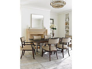 beautiful mixed-media dining room table and chairs