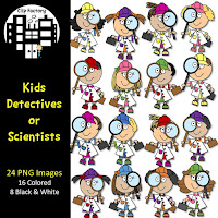 Kid Detective Clip Art