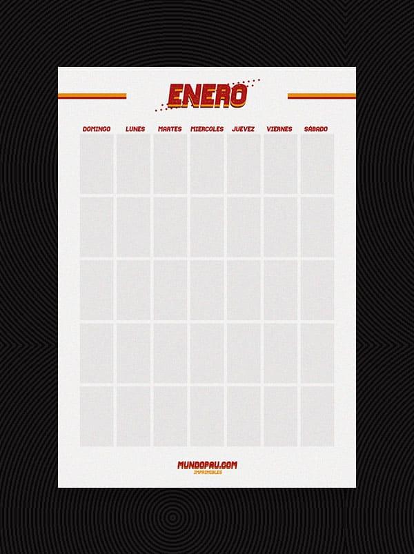 calendario de agenda 2021 para imprimir en vintage
