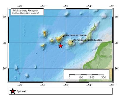 Terremoto sur de Tenerife 3 de octubre