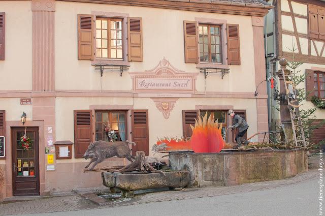 Hunawihr pueblo bonito Alsacia