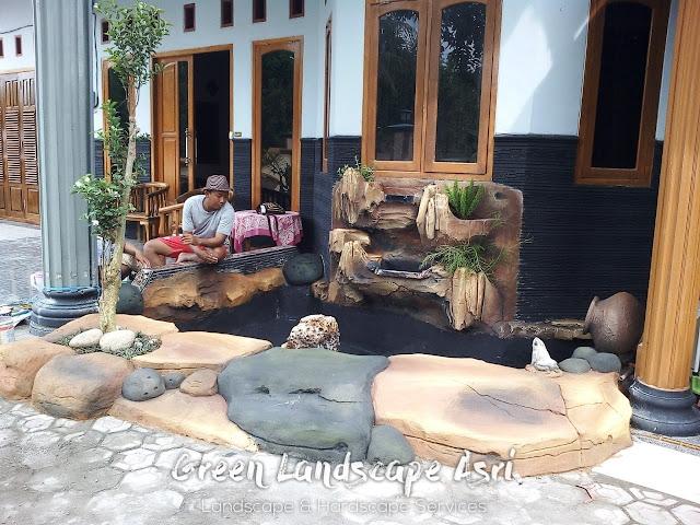 Jasa Pembuatan Relief Kolam Tebing Surabaya | Tukang Dekorasi Relief Taman