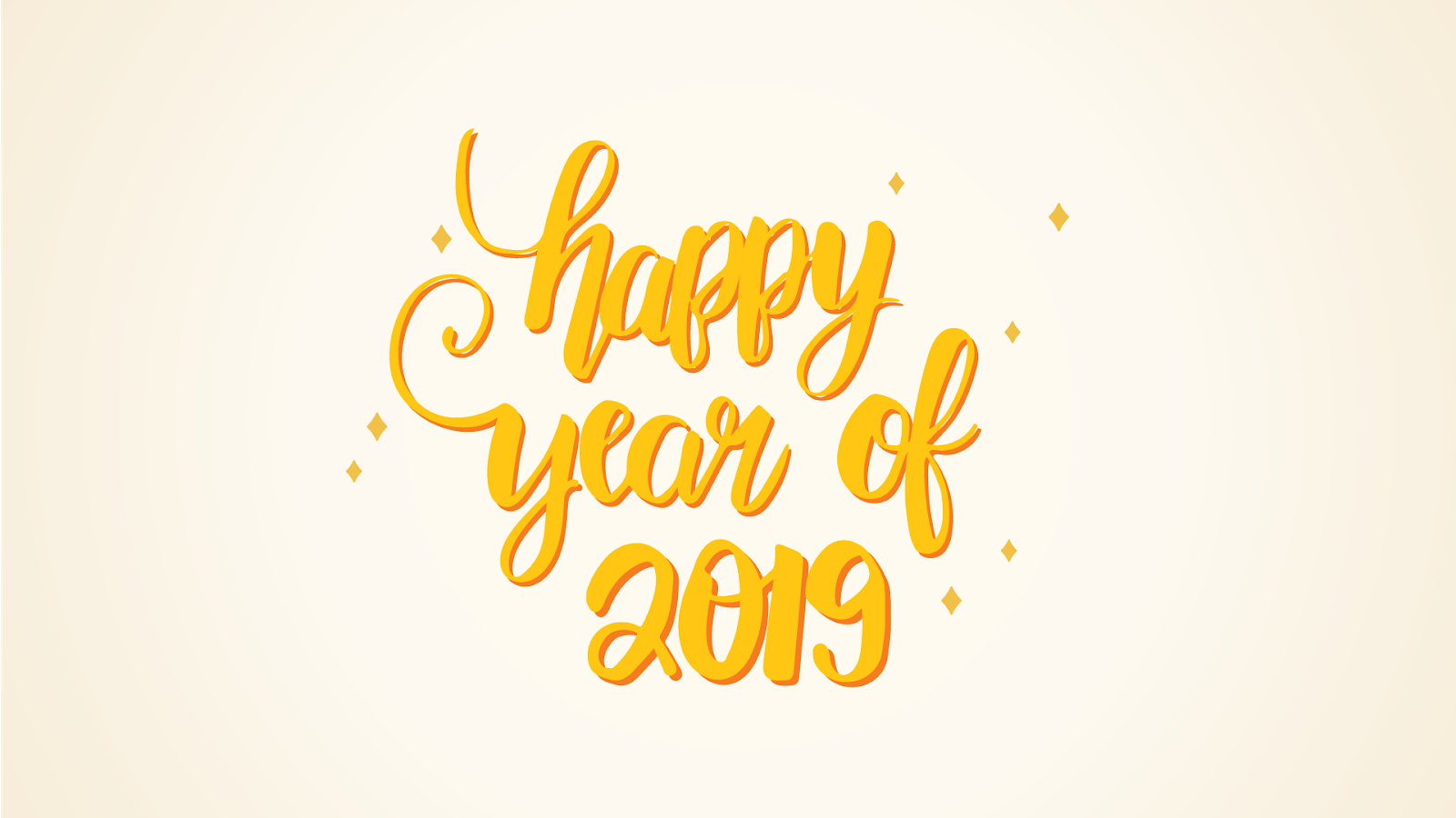 Happy New Year 2019 - Desktop Handlettered Wallpaper Download