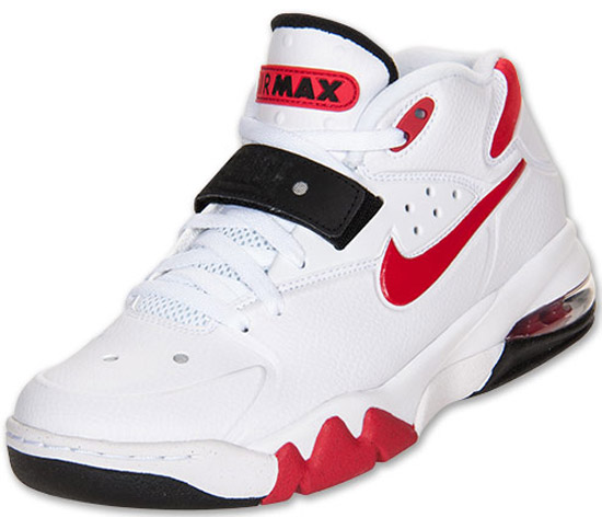 timeless design 487f2 45730 Featuring a white-based leather upper with red and black accents. This is  the second colorway of the Nike Air Force Max 2013 ...